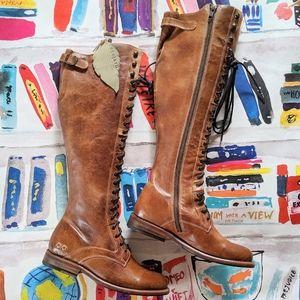 NEW Bed Stu Della Rustic Tan Lace Up Boots 6